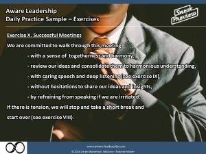 Exercise X. Successful Meetings